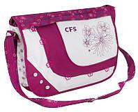 """Выразительный мессенджер через плечо """"Trendy Flowers"""" Cool for school CF85409 фуксия/белый"""
