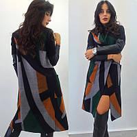 Пальто женское без рукавов ниже колен - Черный