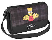 """Мальчуковый современный мессенджер на плечо """"The Simpsons"""" Cool for school SI08800 черный/печать"""