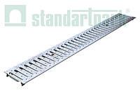 Решетка водоприемная StandartPark 500х136х3 класс нагрузки: A штампованная, нержавеющая сталь (2095)
