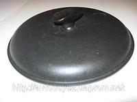 Чугунная крышка с матовой эмалью диаметром 300 мм