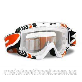 Кроссовые очки PROGRIP Маска Оранжевого цвета Progrip 3450/16 Topline с линзами 3298