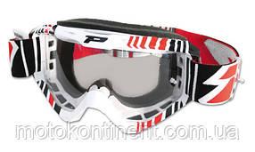 Кроссовые очки PROGRIP мото очки Красного цвета Progrip 3450/16 Topline с линзами 3298