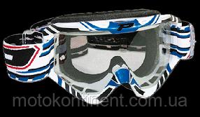 Кроссовые очки PROGRIP мото очки кроссовые Голубого цвета Progrip 3450/16 Topline с линзами 3298
