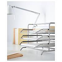 IKEA ДОКУМЕНТ Лоток для корреспонденции, серебристый : 60153250, 601.532.50