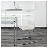 IKEA БЕРНГАРД Стул, хромированный, Кават белый : 20153068, 201.530.68
