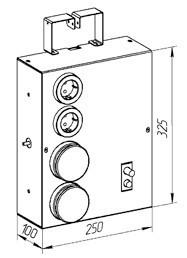 Щит с разъёмами ЩР-211