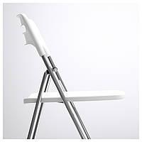 IKEA НИССЕ Стул складной, глянцевый белый, хромированный : 10115067, 101.150.67