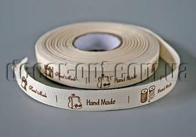 Стрічка натур. Handmade 1.5 см/25 ярд