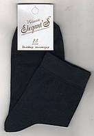 Носки подростковые демисезонные х/б Elegant Classic, 23 размер, тёмно-синие, 1606
