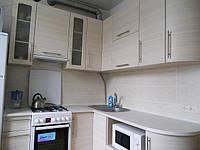Кухня с радиусными фасадами из МДФ, фото 1