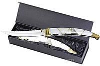 Нож рукоять натуральная перламутровая ракушка, мрамор, подарок для мужчины, ЭКСКЛЮЗИВ, выкидные, походные ножи