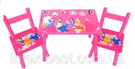 Детский столик со стульчиками «Disney Princess» Bambi M 1109, фото 2