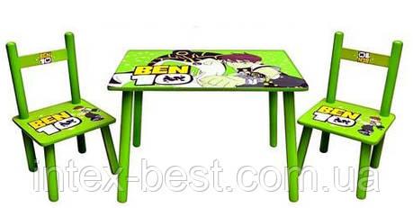 Детский столик со стульчиками «Ben 10» Bambi M 0489, фото 2