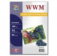 Фотобумага WWM, матовая 180 г, A4, 50 л