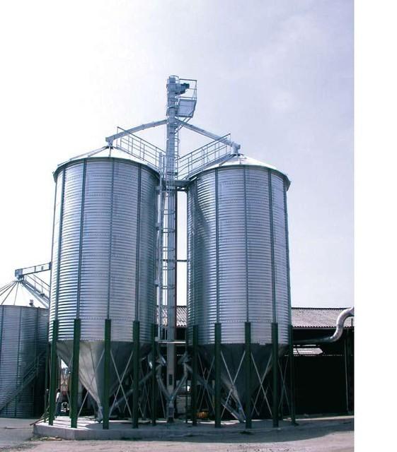 Силосные зернохранилища с конусным дном