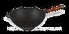 Казан чугунный с эмалью и деревянной ручкой объемом 3,5л