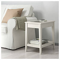 IKEA ЛИАТОРП Придиванный столик, белый, стекло : 40173065, 401.730.65