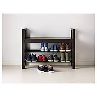 IKEA ХЕМНЭС Скамья с полкой для обуви, черно-коричневый : 70245872, 702.458.72