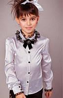 Атласная школьная блузка для девочки Baby Angel 670