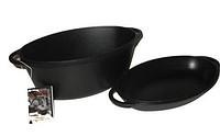 Гусятница чугунная с крышкой-сковородой объемом 5,0 л