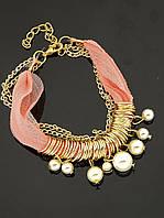 Нежный текстильный браслет на руку, женский, майорка, розовый 'FJ' 030937