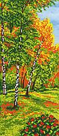 """Схема для вышивки бисером на подрамнике (холст) """"Осенний пейзаж-1"""""""