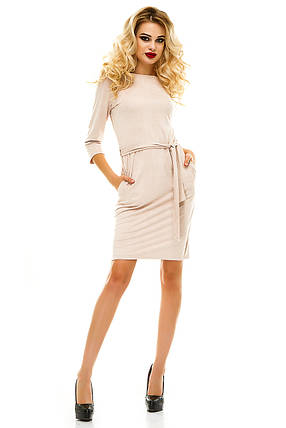 Платье 222 пудра размер 42-44, фото 2