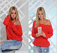 Красная кофта на одно плечо, фото 1