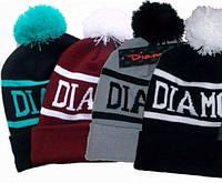 Модная осенне-зимняя шапка Diamond. Хорошее качество. Вязаная шапка. Унисекс. Купить в интернете. Код: КДН570