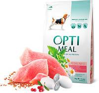 OptiMeal - корм ОптиМил с индейкой для собак средних пород, 4кг