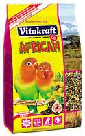Корм для средних африканских попугаев, неразлучников Vitakraft (Витакрафт) African, 750 гр