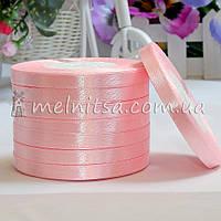 Атласная лента 0,6 см, №4 св.розовый, рулон 23 м