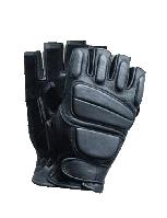 Перчатки кожаные беспалые с демпферными накладками