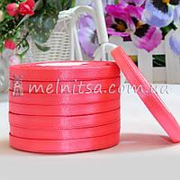 Атласная лента 0,6 см, №14 ярко-розовый, рулон 23 м