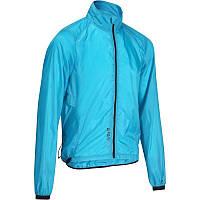 Куртка мужская велосипедная, ветровка Btwin 700 голубая
