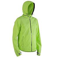 Куртка мужская велосипедная, ветровка Btwin 500 FLUO салатовая