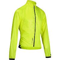 Куртка мужская велосипедная, ветровка Btwin 700 лимонная