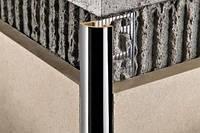 PJOC 10 раскладка наружная для плитки 10мм латунь хромированная Progress Profiles(Италия) 2.7м
