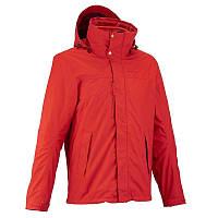 Куртка мужская демисезонная Quechua RAINWARM 300 3 в 1 красная