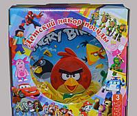 Детский набор посуды Angry birds (3 предмета)
