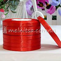 Атласная лента 0,6 см, №26 красный, рулон 23 м