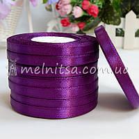 Атласная лента 0,6 см, №34 фиолетовый, рулон 23 м