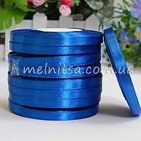 Атласная лента 0,6 см, №40 синий, рулон 23 м