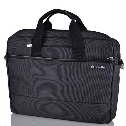 """Удобная сумка для ноутбука 15,4"""" Ling Hao FO-243-2 черный, фото 2"""