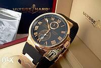 Часы Ulysse Nardin GOLD механика! Гарантия 1 год! Для Успешных Мужчин