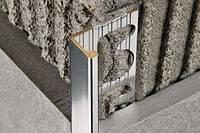 PTOC 125 Г-образный профиль для плитки 12,5мм латунь хромированная Progress Profiles (Италия) 2,7м