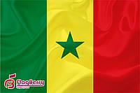 Флаг Сенегала 80*120 см.,флажная сетка.,2-х сторонняя печать