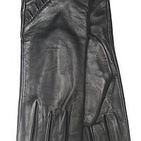 Harmon перчатки женские кожаные на плюше черные