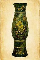 Напольная ваза Осень зеленый малахит